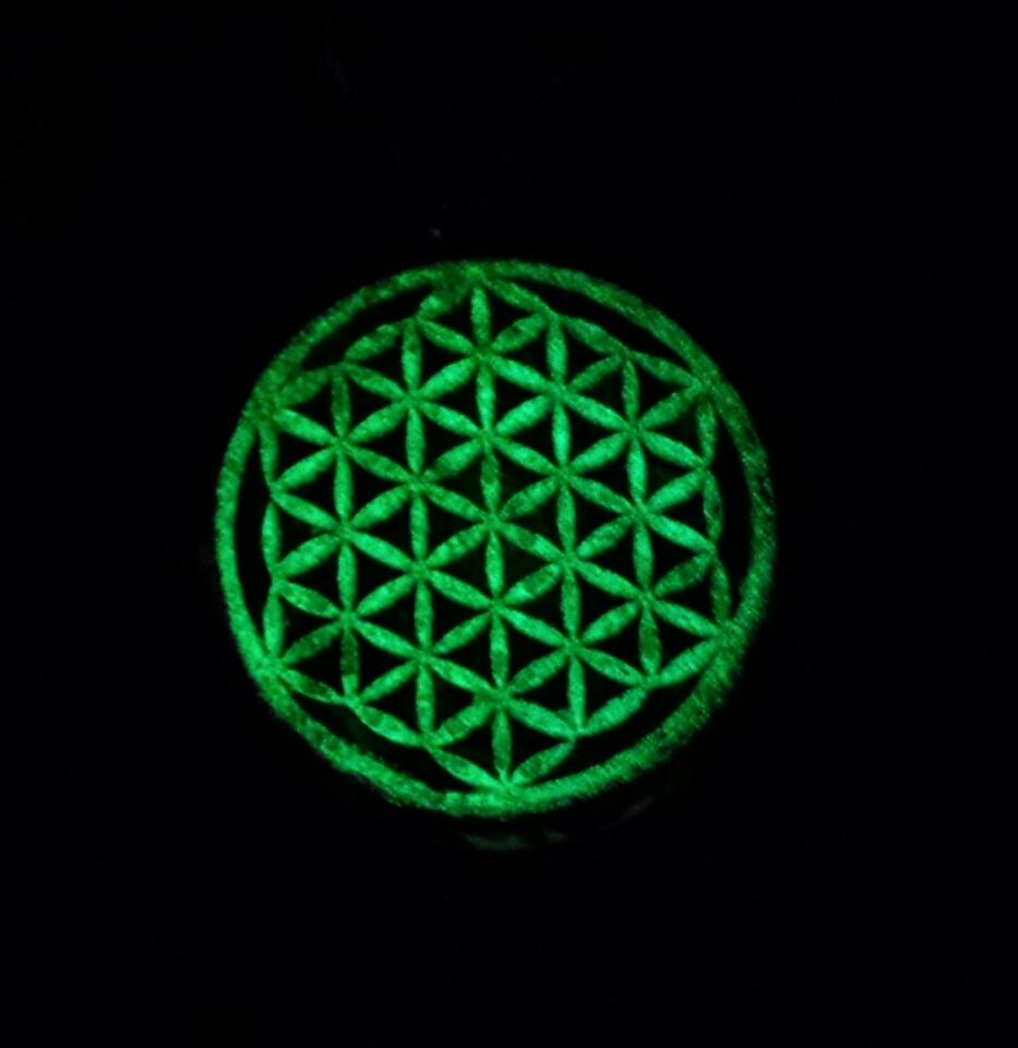 Flower of life pendant with gold leaf flower of life pendant aloadofball Choice Image